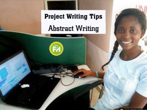 Abstract writing tips