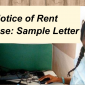 Notice of Rent Increase in House Rents to Tenants 2021/2022